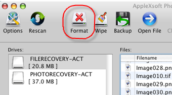 AppleXsoft Photo Recovery for Mac Format