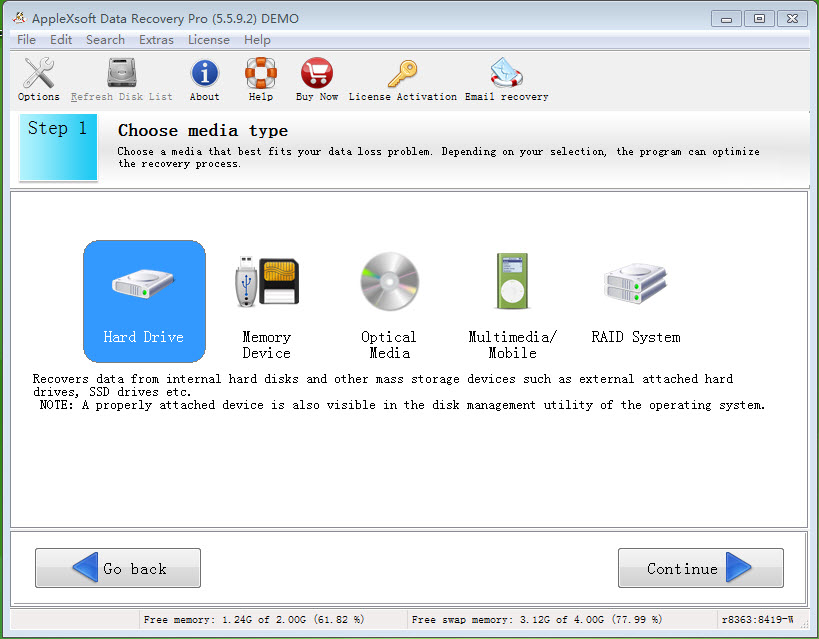 Click to view AppleXsoft Data Recovery Professional screenshots