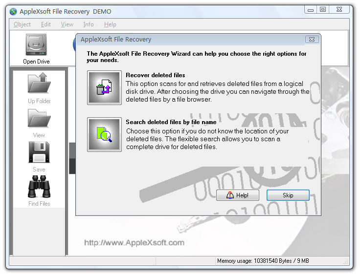AppleXsoft Windows File Recovery 3.0
